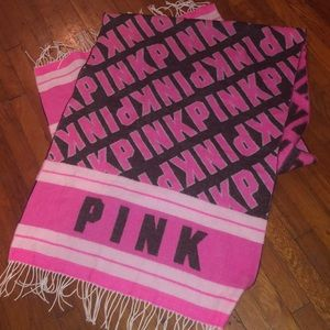PINK Victoria's Secret huge scarf throw 27 X 88 in